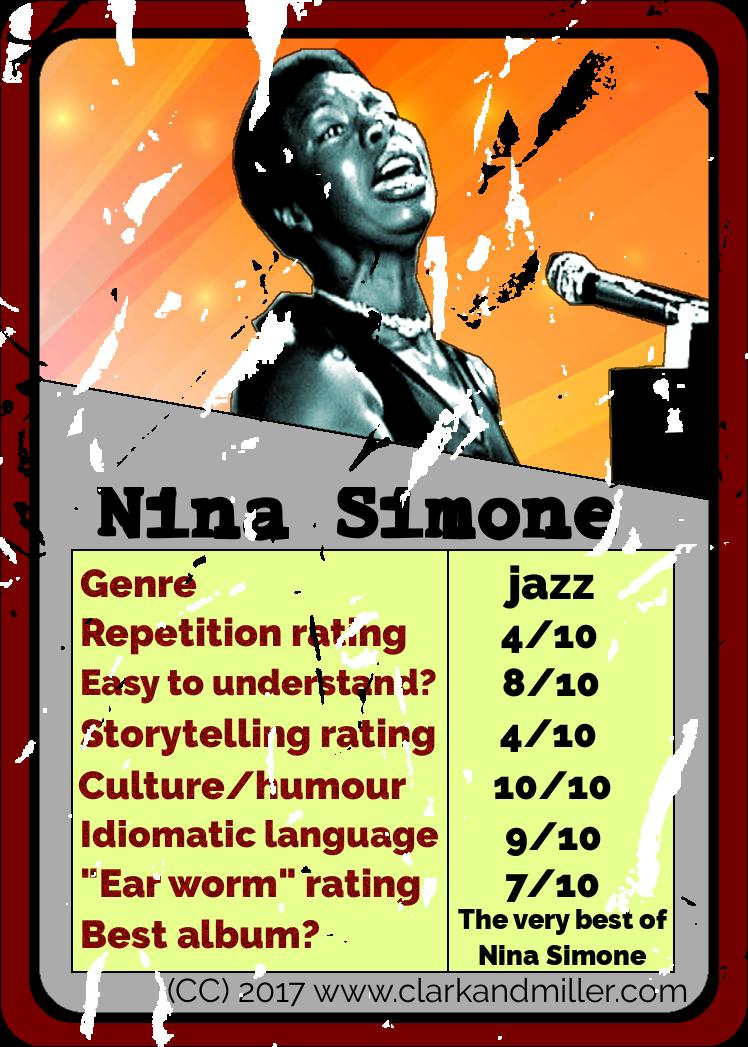 Nina Simone Top Trumps Card
