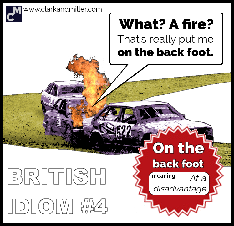 British Idioms: On the Back Foot