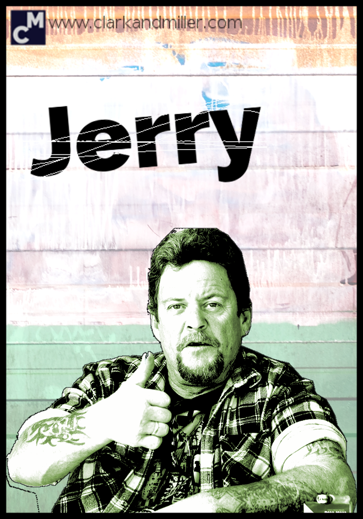 Jerry: man with tattoos giving the thumbs up
