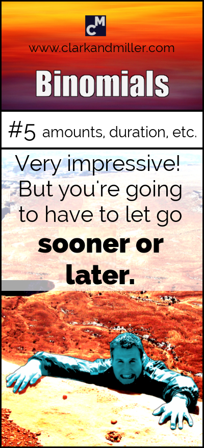 Binomials in English: sooner or later