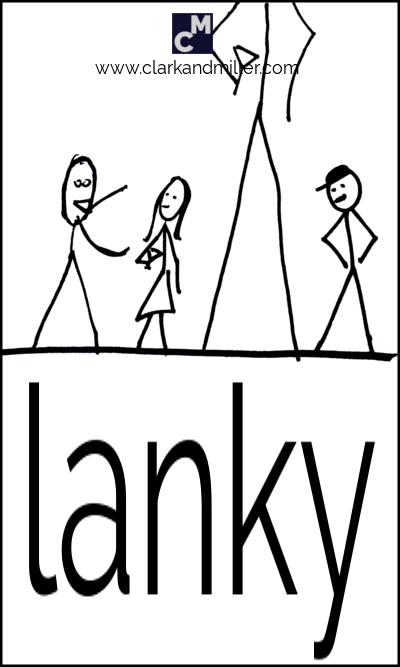 Lanky stick figure