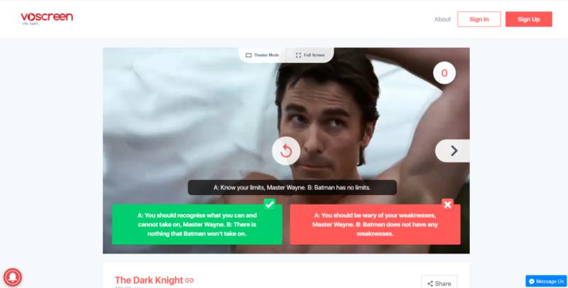 Voscreen screenshot