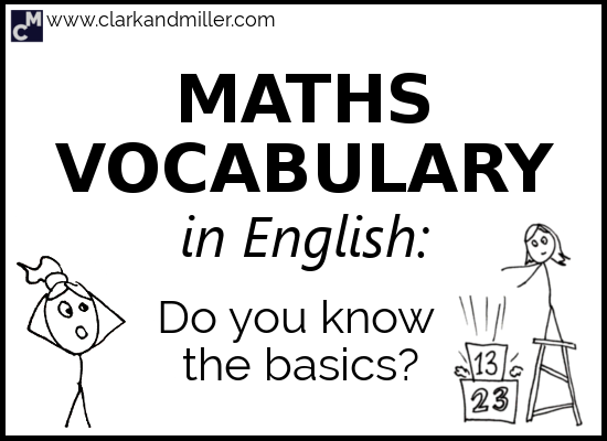 Maths Vocabulary in English: Do You Know the Basics?