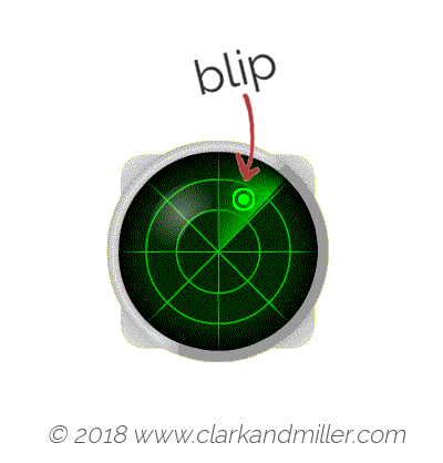 Blip: a radar display