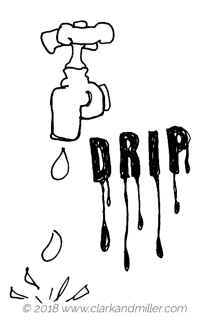 Drip: a dripping tap