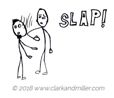 Slap: a man slapping another man's face