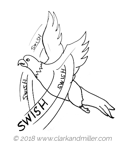 Swish: a bird moving its wings