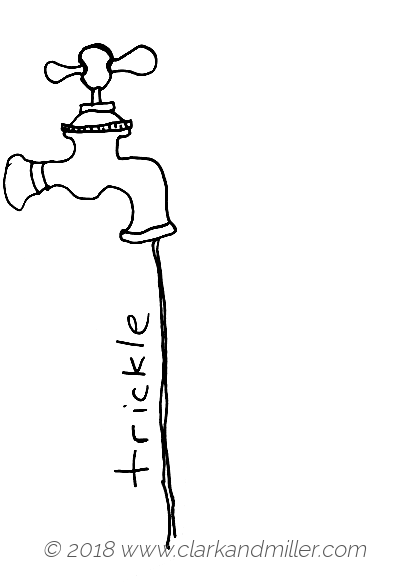 Trickle: a gently running tap