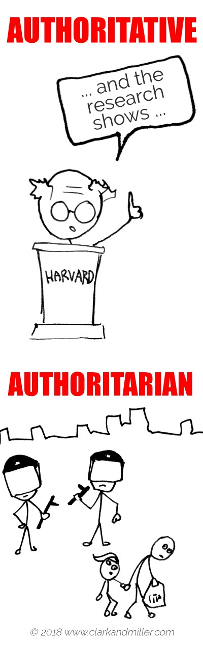 Authoritative vs Authoritarian
