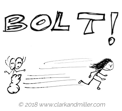 Verbs of movement: bolt