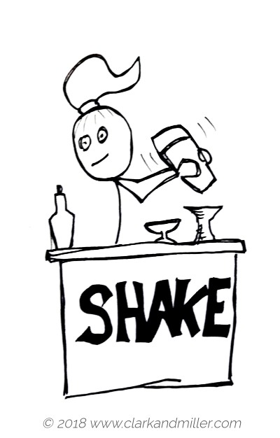 Verbs of movement: shake