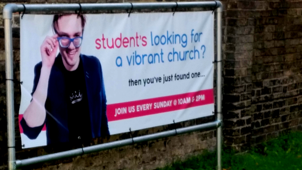 """Student's looking for a vibrant church? Then you've just found one."""
