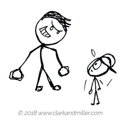 Stick figure bully