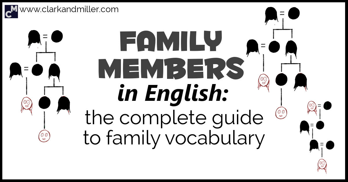 Family Vocabulary: Family Members in English | Clark and Miller