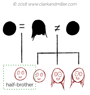 Family tree with half-brother