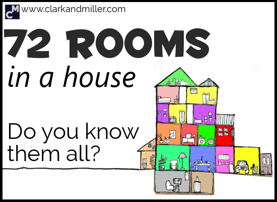 Rooms in a House - 72 Different Rooms in English