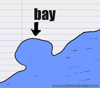 bay drawing with text