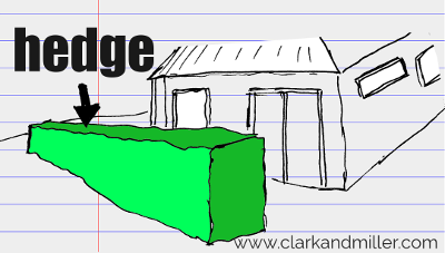 hedge drawing with text