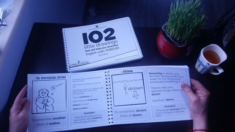 102 Little Drawings - print book with hands and tea