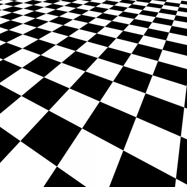 Black-and-white checkered pattern