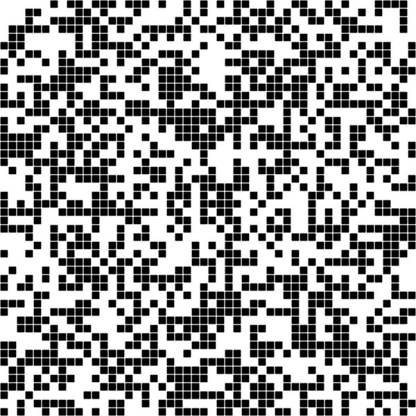 Random black pixelated pattern on a white background