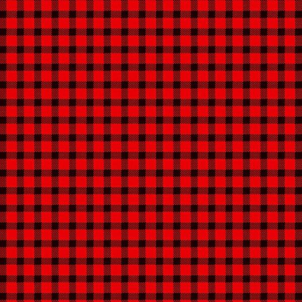 Plaid pattern: black checks on a red background