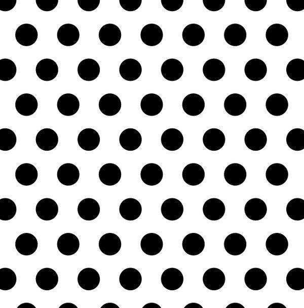Polka-dot pattern: large black polka dots on a white background