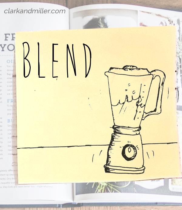 blend: sketch of a blender with moving liquid inside