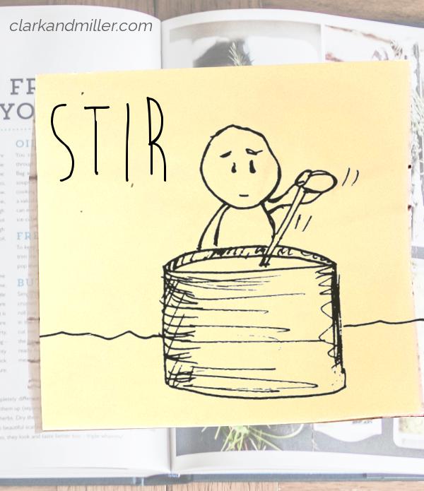 stir: sketch of a man stirring a large pot