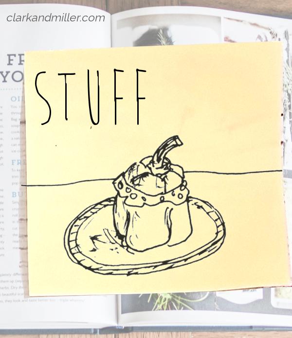 stuff: sketch of a stuffed pepper
