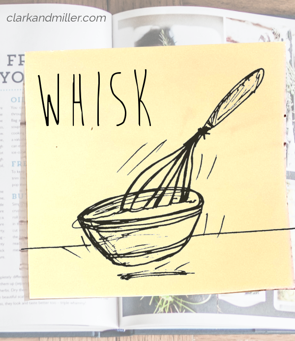 whisk: sketch of a whisk moving in a bowl