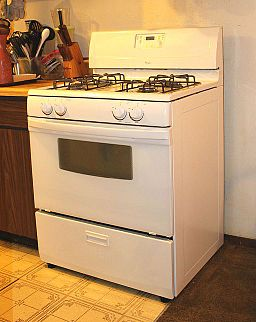 White stove and oven